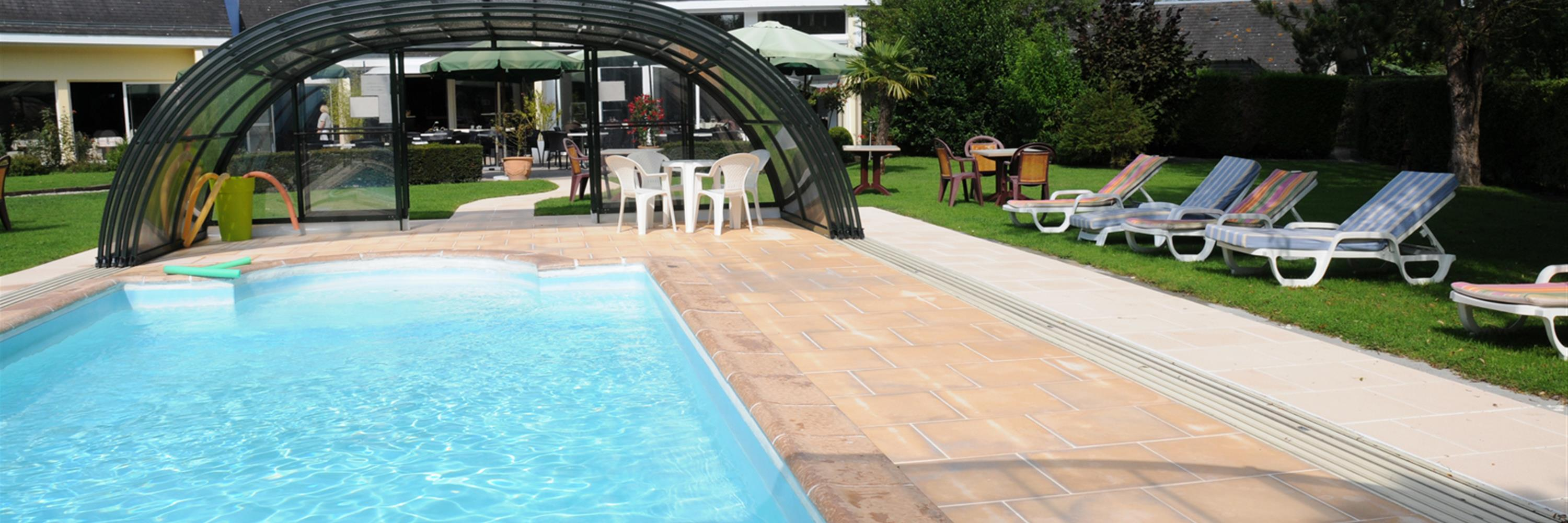 A Covered Swimming Pool Heated to 29°C in Cabourg - The leisure ...